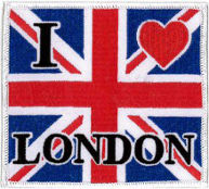 I Love London UJ Embroidered Patch