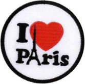 I Love Paris Embroidered Patch