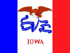 Iowa (USA State) Flag 5ft x 3ft