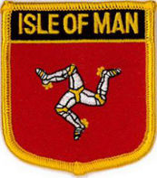 Isle of Man Patch 7cm x 6cm