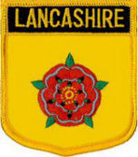 Lancashire County Embroidered Patch 7cm x 6cm