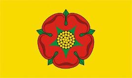 Lancashire County (Yellow bg) Flag 5ft x 3ft