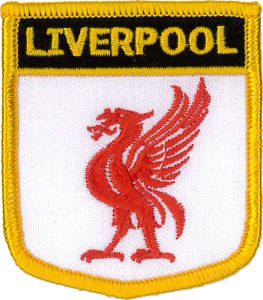 Liverpool (City of) embroidered Patch 6cm x 7cm