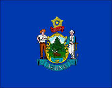 Maine  (USA State) Flag 5ft x3ft