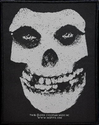 Misfits - White Skull Patch