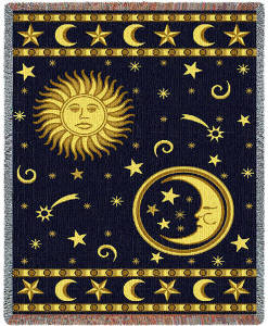 Moon And Stars Blanket & Throw