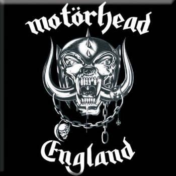 Motorhead - England Fridge Magnet 7.5cm x 7.5cm