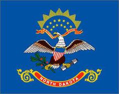North Dakota (USA State) Flag 5ft x 3ft