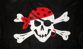 One Eyed Jack Flag 5ft x 3ft