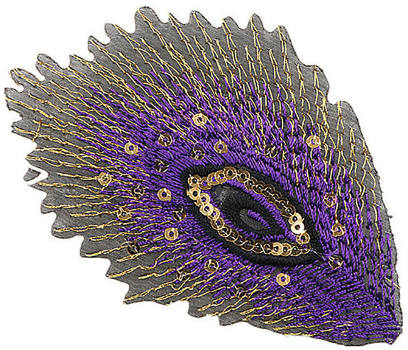 Peacock Feather Patch (Sequined)