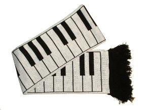 """Piano Keys Scarf 5ft long (6"""" Wide)"""
