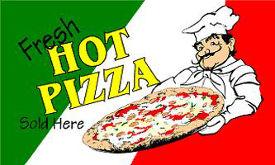 Hot Pizza Advertising Flag