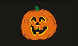 Pumpkin (Halloween) Flag 5ft x 3ft