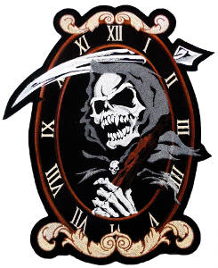 Reaper Clock Back Patch 31cm x 27cm