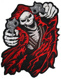 Reaper with Guns Back Patch 39cm x 25.5cm