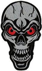Red Eye Skull Back Patch 25cm x 16