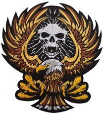 Skull Eagle (Gold) Back Patch