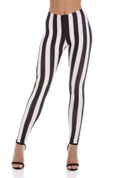 Womens - Striped Black/White - Leggings