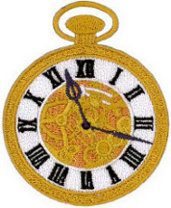 Tick Tock Embroidered Patch
