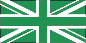 Green/White Union Jack Flag