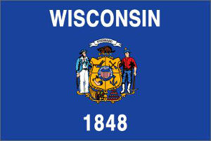 Wisconsin (USA State) Flag
