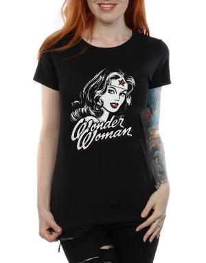 Women's Wonder Woman Hint of Red Ladies T-Shirt