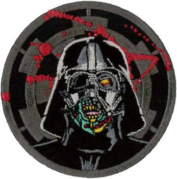 Darth Vader Zombie Embroidered Patch